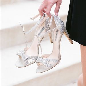I.N.C. Reese Sparkle Bow T-Strap Heels